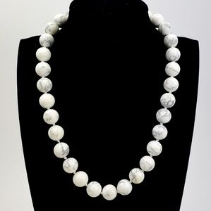 J. Crew Marbled Stone Bead Necklace